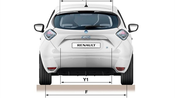 Renault ZOE back view with dimensions