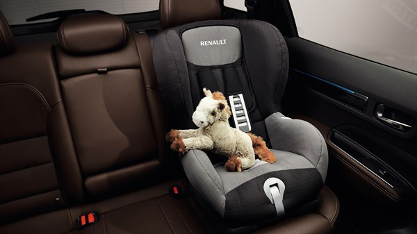 Renault KOLEOS isofix anchor points to secure child seats