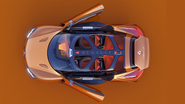 Renault CAPTUR concept car dimensions top view