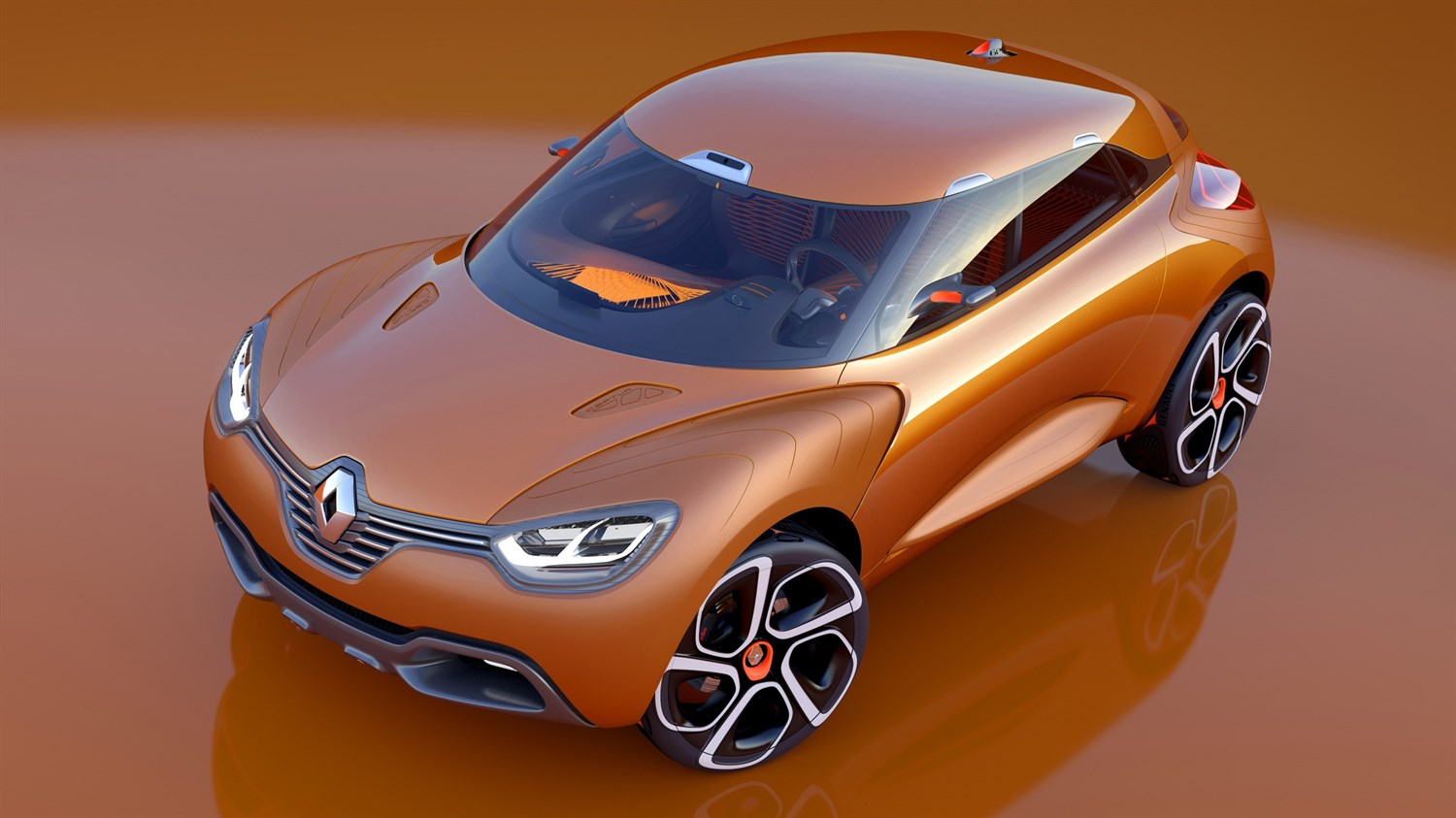 Renault CAPTUR concept car dynamic design exterior top view