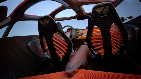 Renault CAPTUR concept car interior view