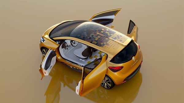 Renault R-Space concept exterior design top view with all the doors open