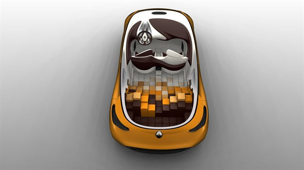 Renault R-SPACE Concept - 3D sketch - interior of vehicle seen from above