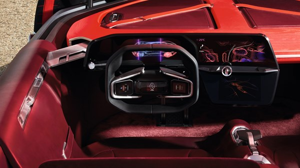 Renault TREZOR concept car dashboard design
